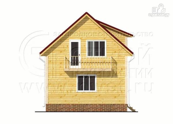 Фото 8: проект дом 6х7 м полтора этажа с балконом