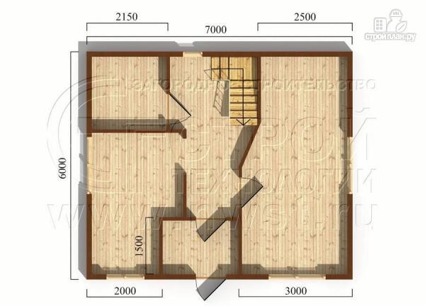 Фото 5: проект дом 6х7 м полтора этажа с балконом