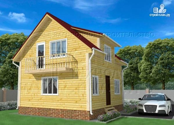 Фото: проект дом 6х7 м полтора этажа с балконом