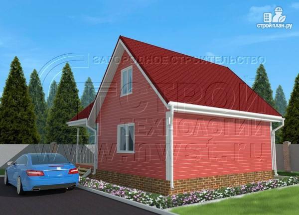 Фото 3: проект дачный дом 6х7 м с многощипцовой крышей и террасой 21 м2