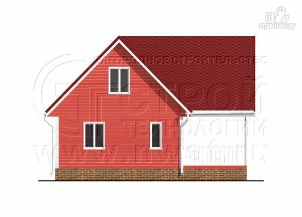 Фото 7: проект дачный дом 6х7 м с многощипцовой крышей и террасой 21 м2