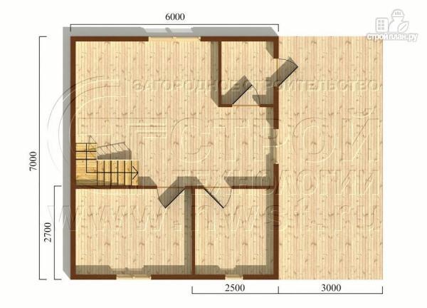 Фото 5: проект дачный дом 6х7 м с многощипцовой крышей и террасой 21 м2