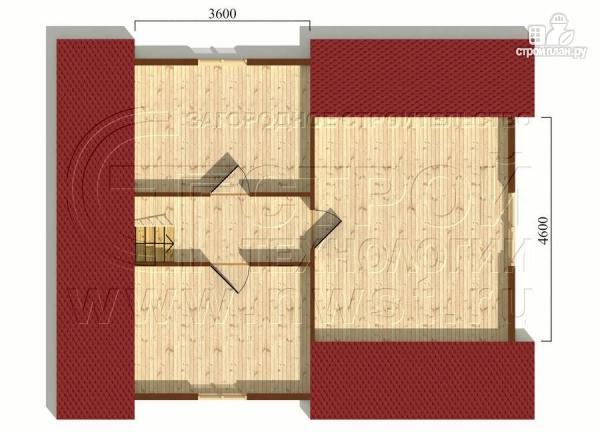 Фото 6: проект дачный дом 6х7 м с многощипцовой крышей и террасой 21 м2