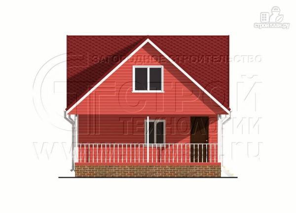 Фото 8: проект дачный дом 6х7 м с многощипцовой крышей и террасой 21 м2