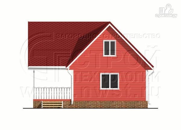 Фото 9: проект дачный дом 6х7 м с многощипцовой крышей и террасой 21 м2