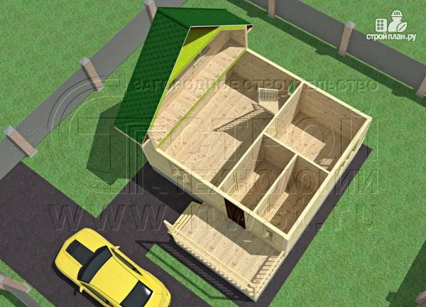 Фото 4: проект дачный дом 6х7 м полтора этажа с террасой