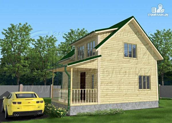 Фото 2: проект дачный дом 6х7 м полтора этажа с террасой