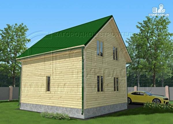 Фото 3: проект дачный дом 6х7 м полтора этажа с террасой