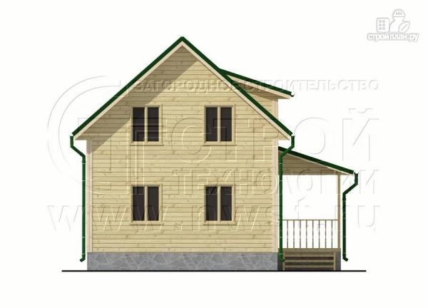 Фото 10: проект дачный дом 6х7 м полтора этажа с террасой