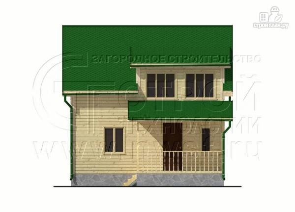Фото 7: проект дачный дом 6х7 м полтора этажа с террасой