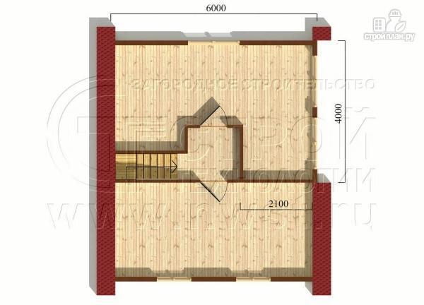 Фото 6: проект дачный дом 6х7 м полтора этажа с террасой