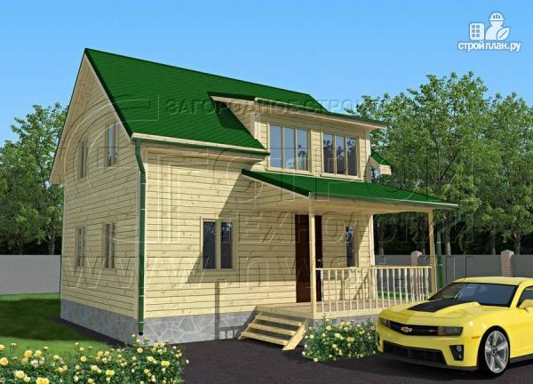 Фото: проект дачный дом 6х7 м полтора этажа с террасой