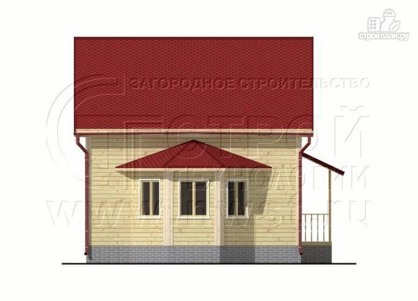 Фото 8: проект дачный дом 6х7 м полтора этажа с эркером и крыльцом