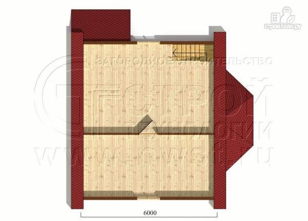 Фото 6: проект дачный дом 6х7 м полтора этажа с эркером и крыльцом