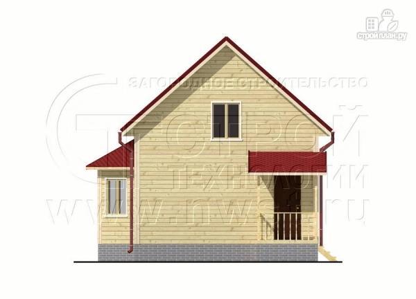 Фото 9: проект дачный дом 6х7 м полтора этажа с эркером и крыльцом