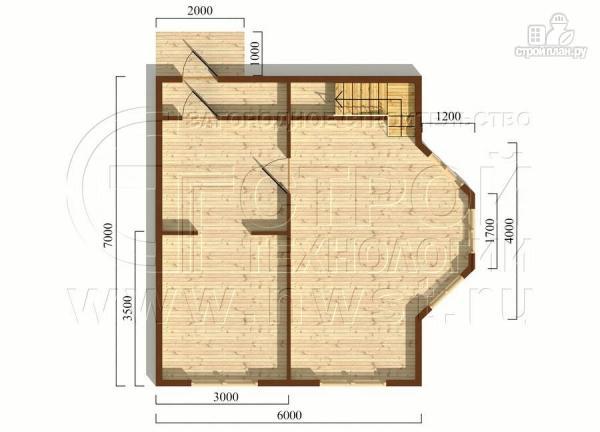 Фото 5: проект дачный дом 6х7 м полтора этажа с эркером и крыльцом