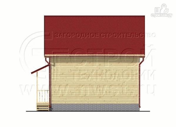 Фото 10: проект дачный дом 6х7 м полтора этажа с эркером и крыльцом