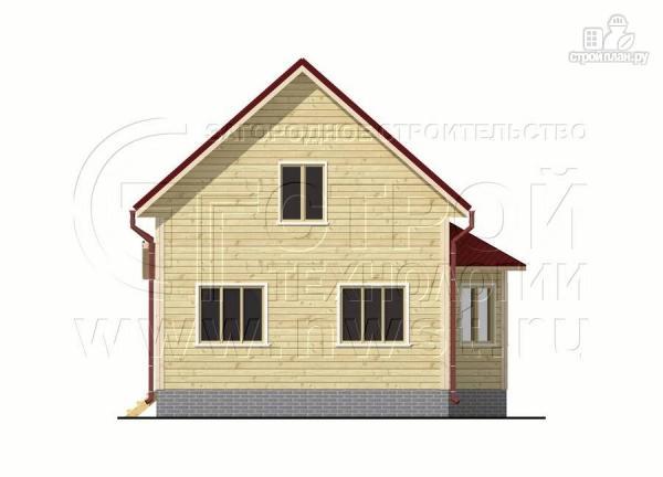 Фото 7: проект дачный дом 6х7 м полтора этажа с эркером и крыльцом