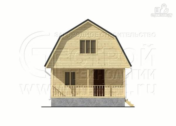 Фото 8: проект дачный брусовой дом 6х7 м с террасой