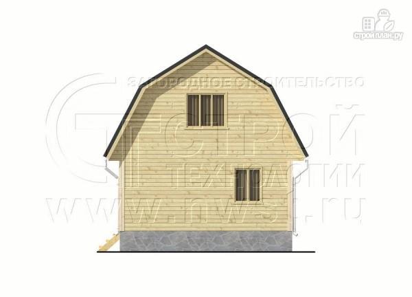 Фото 10: проект дачный брусовой дом 6х7 м с террасой