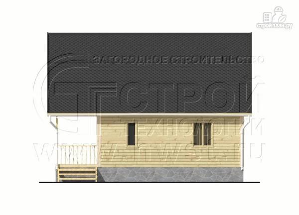 Фото 9: проект дачный брусовой дом 6х7 м с террасой