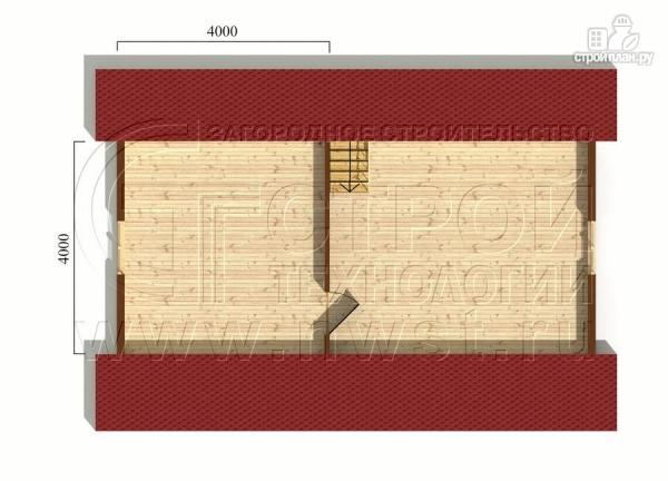 Фото 6: проект дачный брусовой дом 6х7 м с террасой