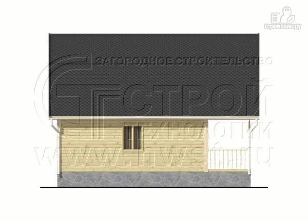 Фото 7: проект дачный брусовой дом 6х7 м с террасой