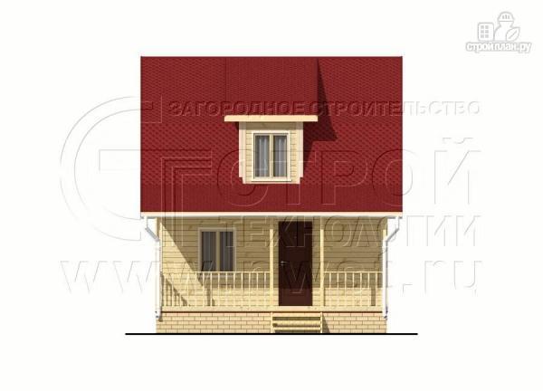 Фото 8: проект дачный дом 6х7 м из бруса с мансардой и террасой 15 м2