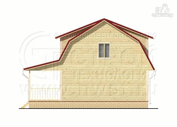 Фото 9: проект дачный дом 6х7 м из бруса с мансардой и террасой 15 м2