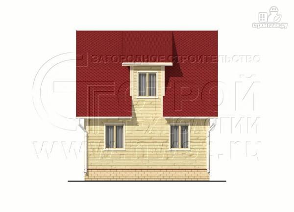 Фото 10: проект дачный дом 6х7 м из бруса с мансардой и террасой 15 м2