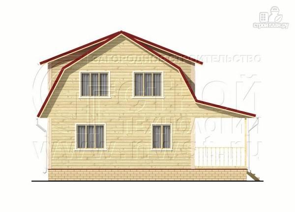 Фото 7: проект дачный дом 6х7 м из бруса с мансардой и террасой 15 м2