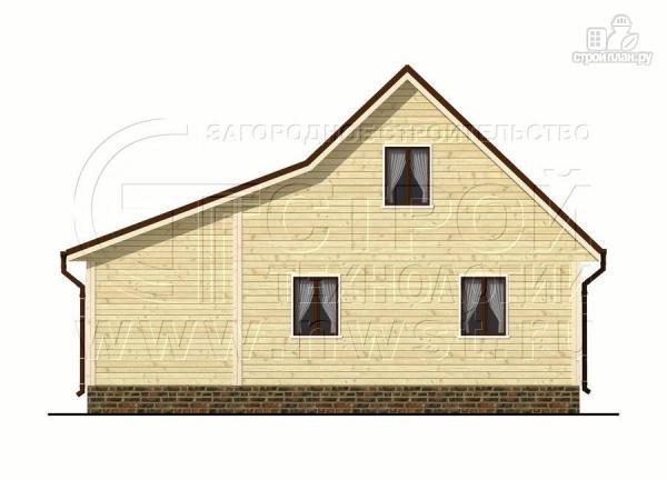 Фото 7: проект дачный дом 6х7 м с мансардой и верандой 18 м2