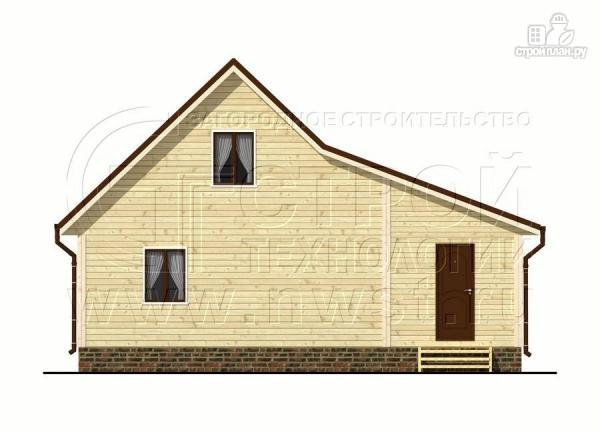 Фото 9: проект дачный дом 6х7 м с мансардой и верандой 18 м2