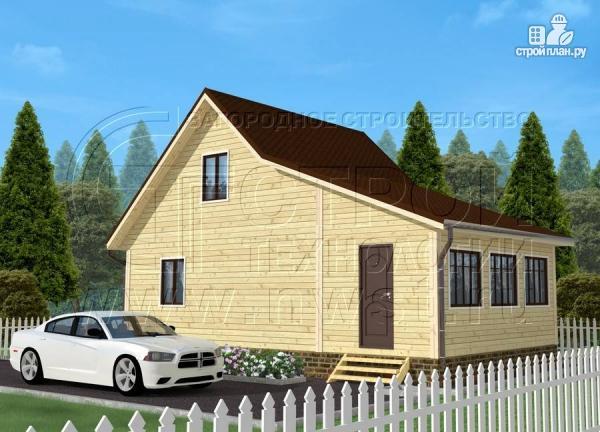 Фото: проект дачный дом 6х7 м с мансардой и верандой 18 м2