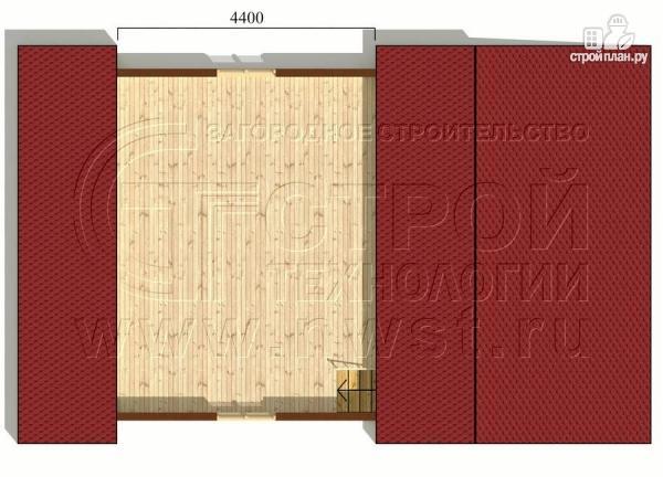 Фото 6: проект дачный дом 6х7 м с мансардой и верандой 18 м2