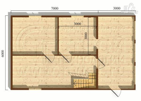 Фото 5: проект дачный дом 6х7 м с мансардой и верандой 18 м2