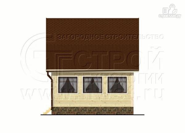 Фото 10: проект дачный дом 6х7 м с мансардой и верандой 18 м2