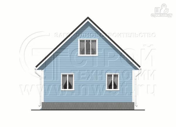 Фото 10: проект дачный дом 6х7 из бруса с верандой