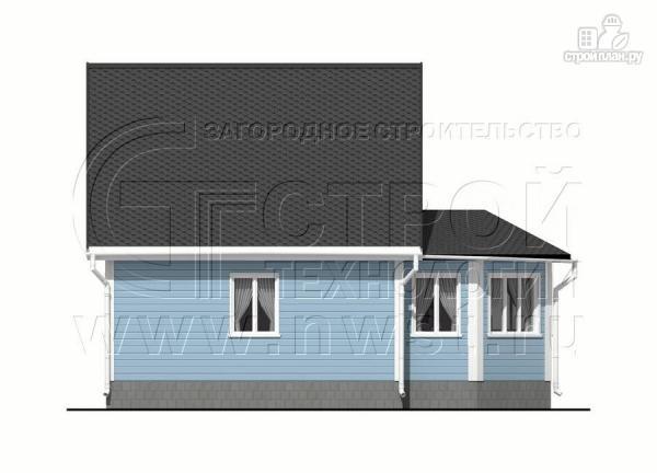 Фото 7: проект дачный дом 6х7 из бруса с верандой
