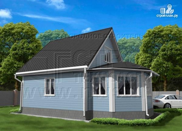 Фото 3: проект дачный дом 6х7 из бруса с верандой