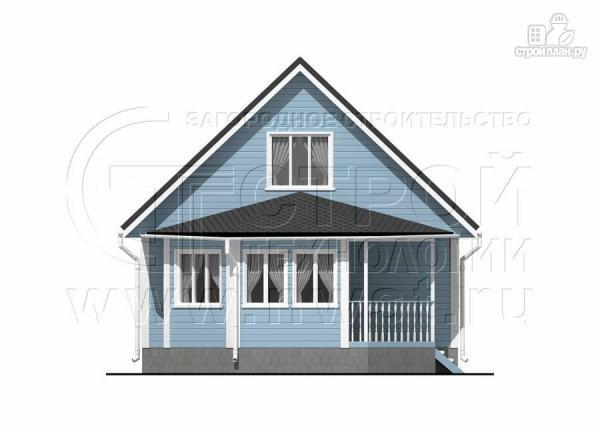 Фото 8: проект дачный дом 6х7 из бруса с верандой
