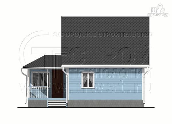 Фото 9: проект дачный дом 6х7 из бруса с верандой