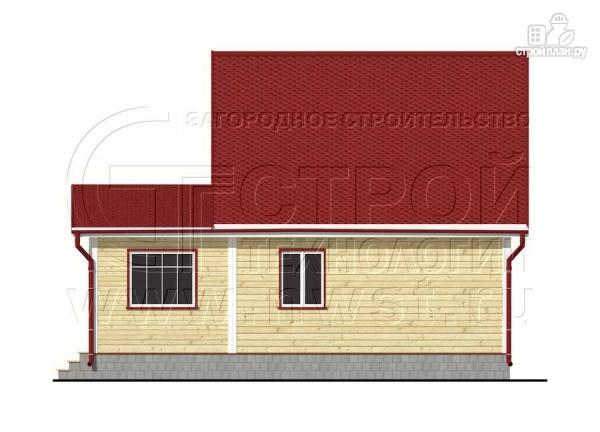 Фото 9: проект дачный дом 6х7 м из бруса с большой верандой