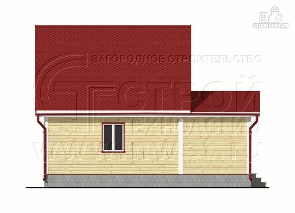 Фото 7: проект дачный дом 6х7 м из бруса с большой верандой