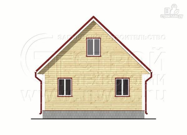 Фото 10: проект дачный дом 6х7 м из бруса с большой верандой