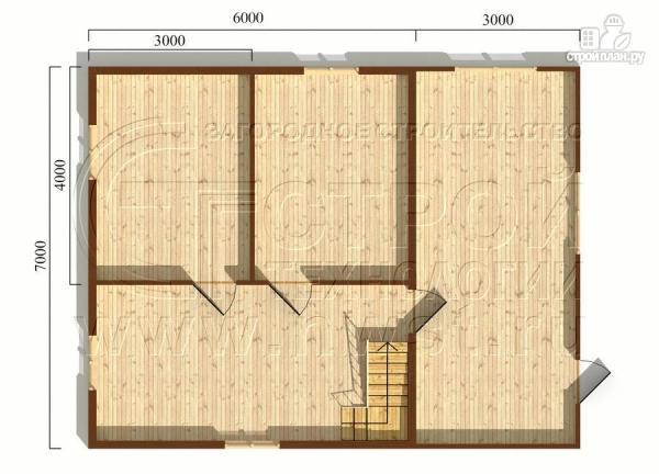 Фото 5: проект дачный дом 6х7 м из бруса с большой верандой