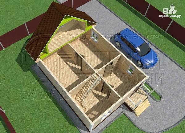 Фото 4: проект дачный дом 6х8 м с крыльцом
