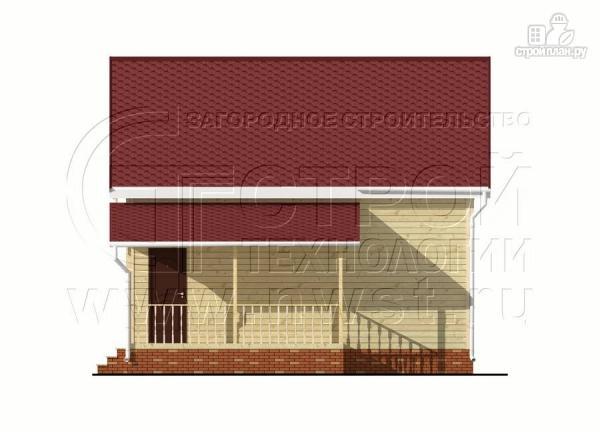 Фото 7: проект дачный брусовой дом 6х8 м с мансардой и террасой