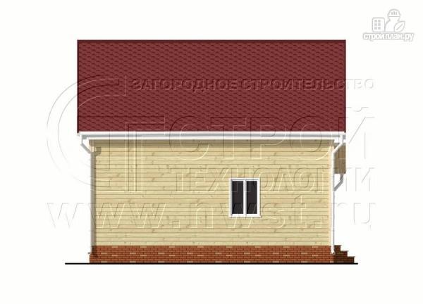 Фото 9: проект дачный брусовой дом 6х8 м с мансардой и террасой