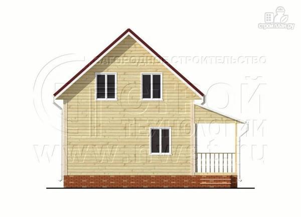 Фото 10: проект дачный брусовой дом 6х8 м с мансардой и террасой